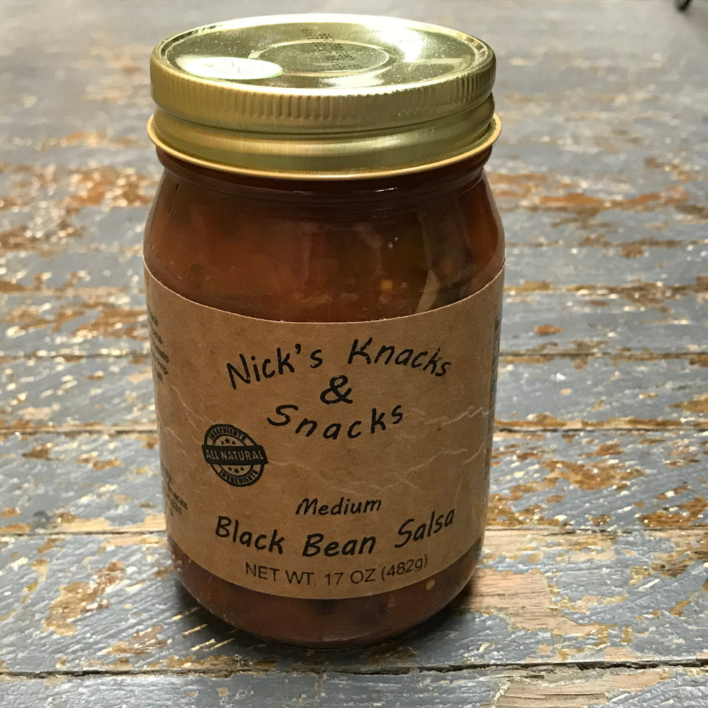 Nicks Snacks All Natural Medium Black Bean Salsa