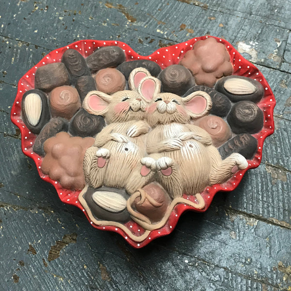 Ceramic Heart Chocolate Candy Valentine Love Box Candy Dish