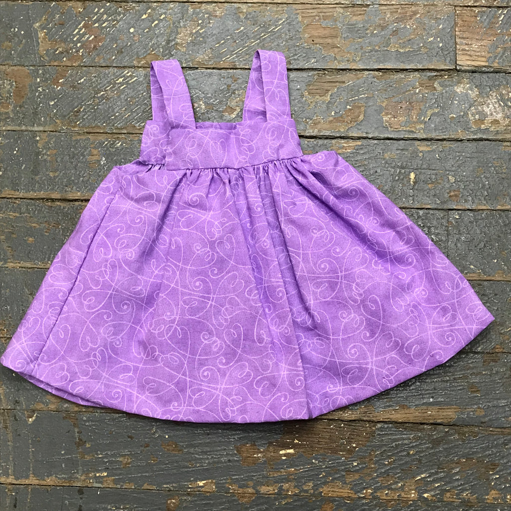 "18"" Doll Clothes Outfit Purple Swirl Dress Skirt"