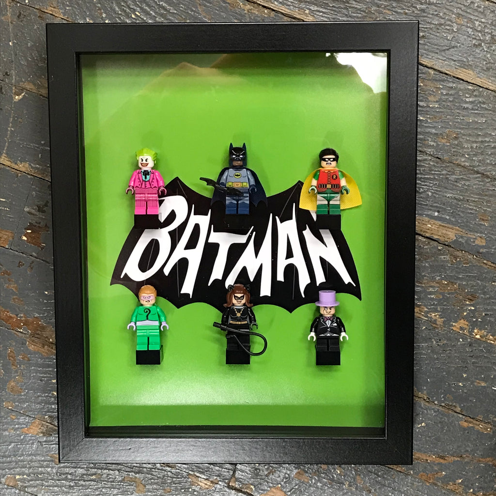Batman Comic Lego Figurine Wall Display Picture Frame Toy Art