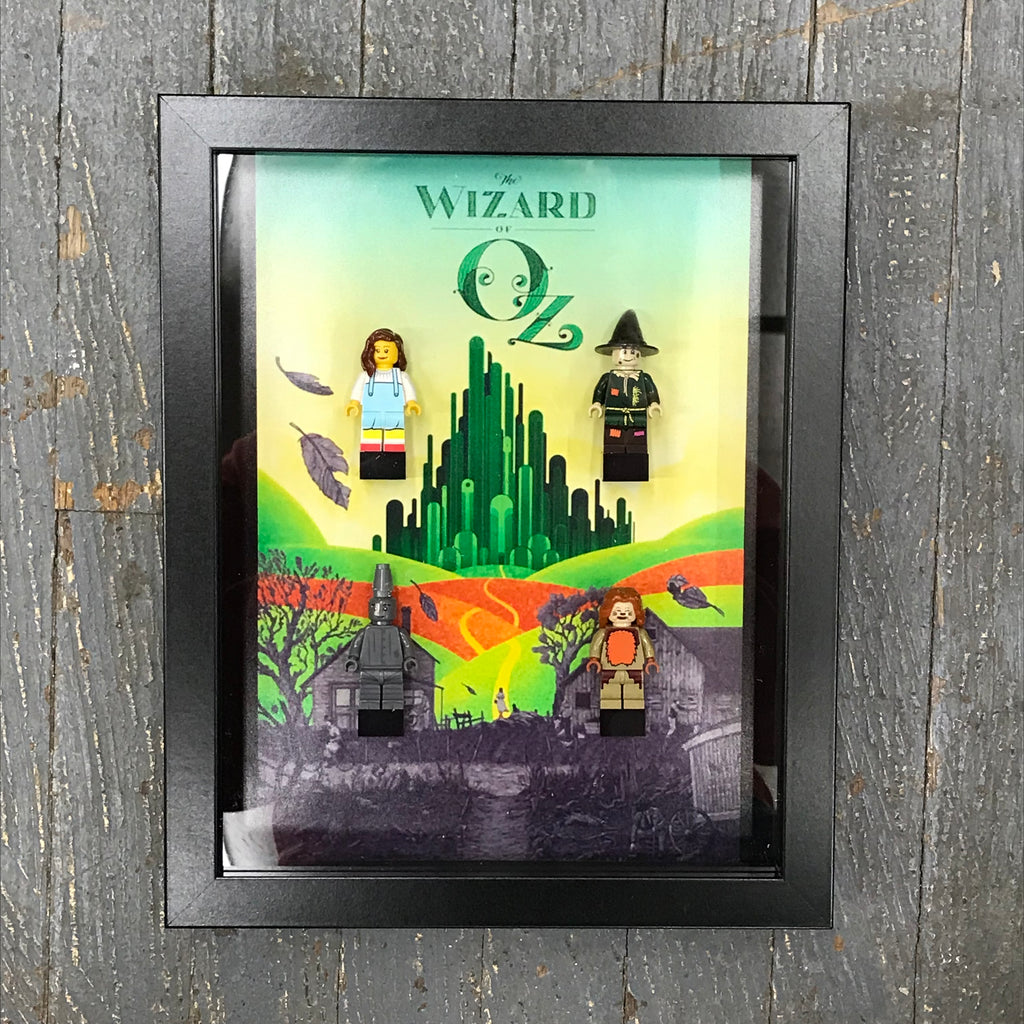 Wizard of Oz Lego Figurine Wall Display Picture Frame Toy Art