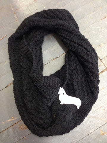 Cowl Scarf Oversized Warm Casual Crochet Knit Pattern Black