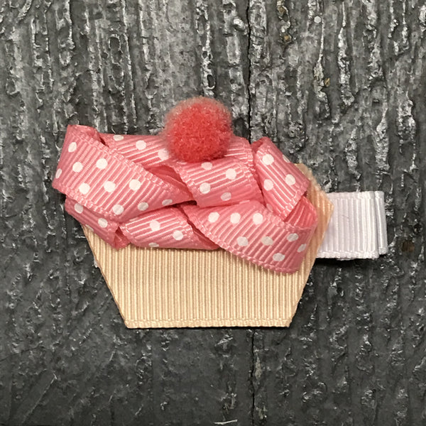 Hair Clip Ribbon Sculpture Headband Bow Holiday Birthday Cupcake