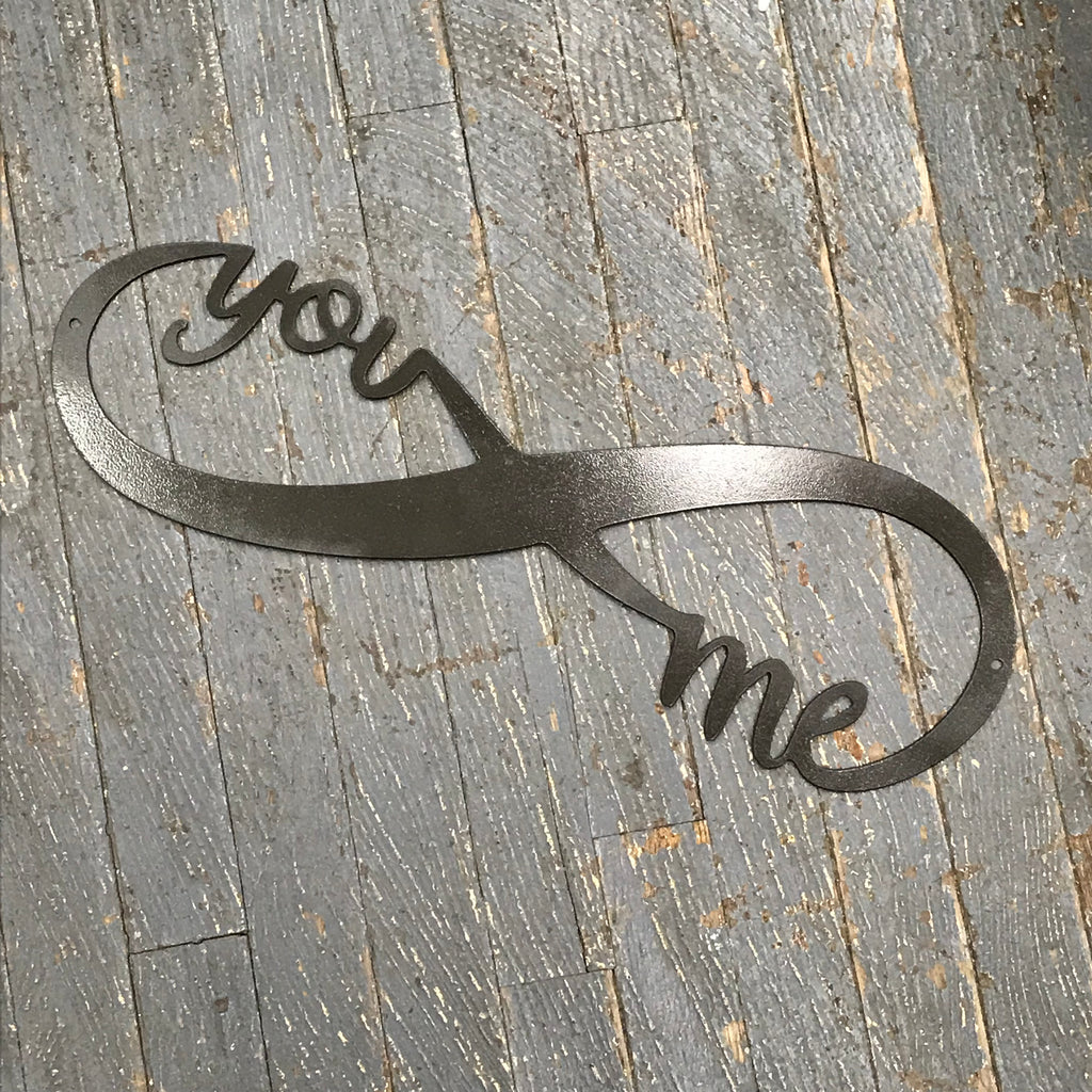 You Me Infinity Word Metal Sign Wall Hanger