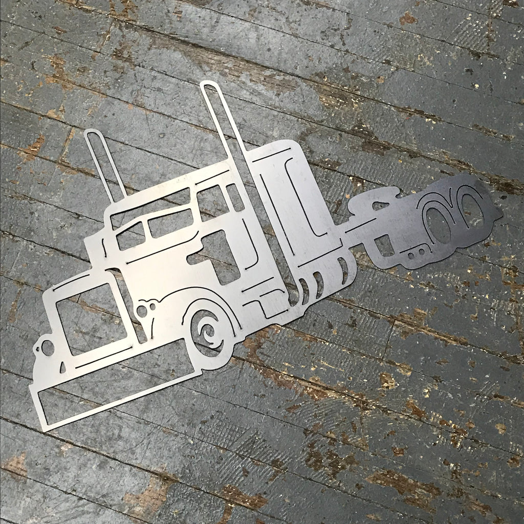 Semi Truck Metal Sign Wall Hanger