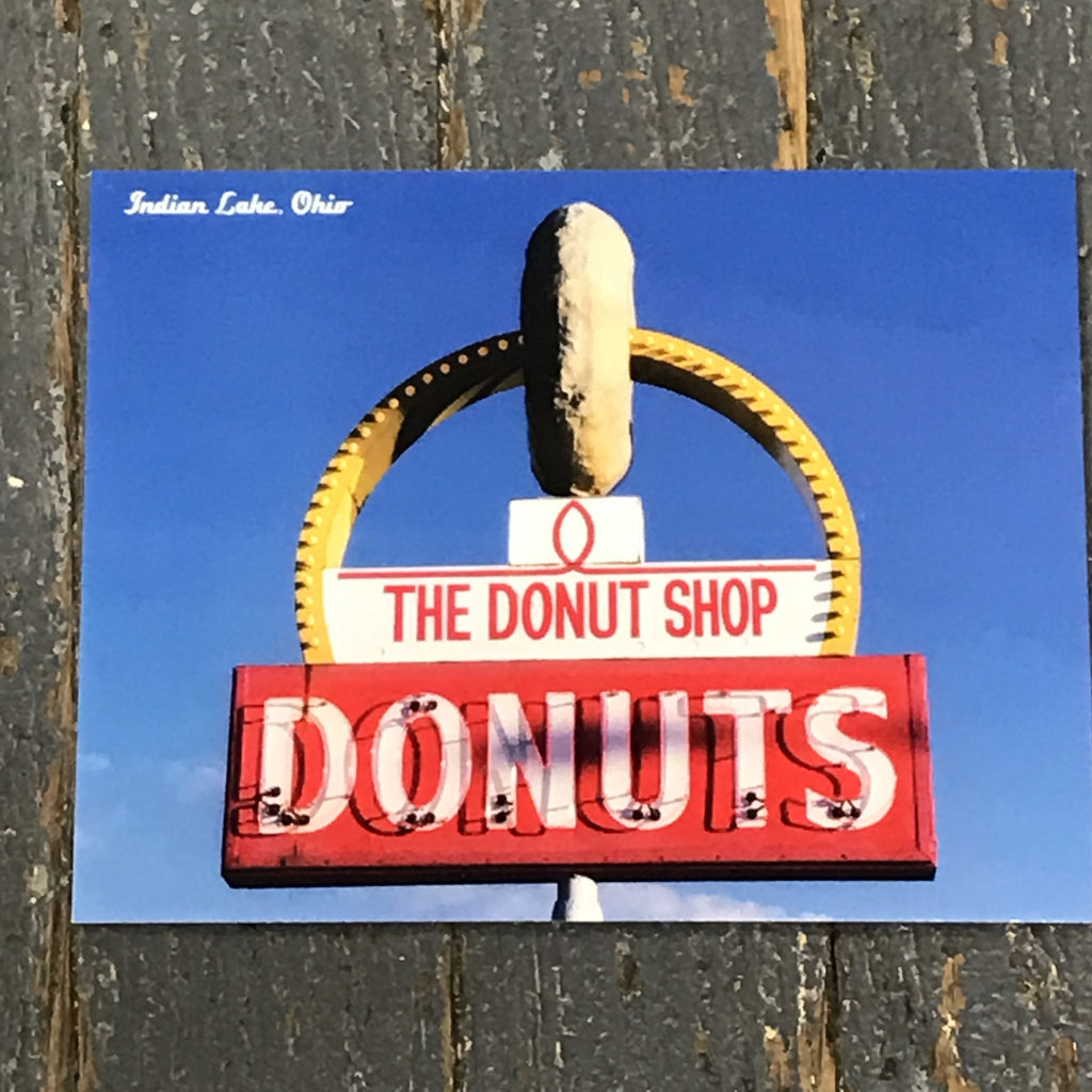 Indian Lake Post Card The Donut Shop