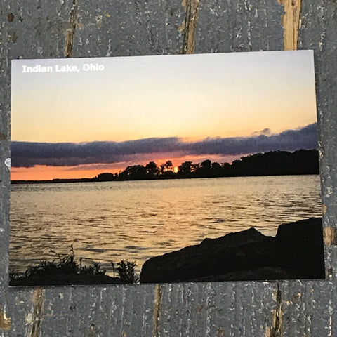 Indian Lake Post Card Long Island Sunset