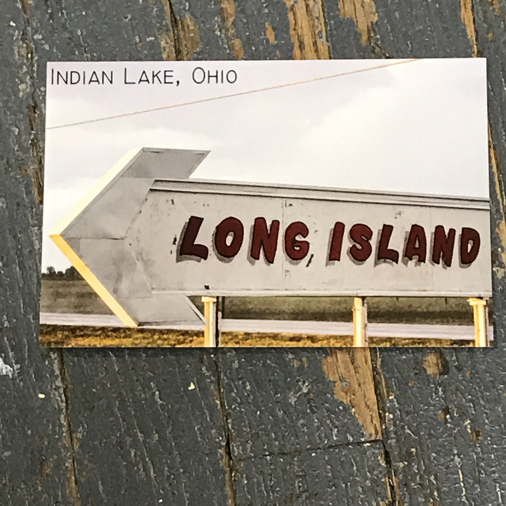 Indian Lake Post Card Long Island Arrow
