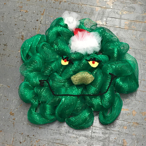 Grinch Christmas Holiday Wreath Door Hanger
