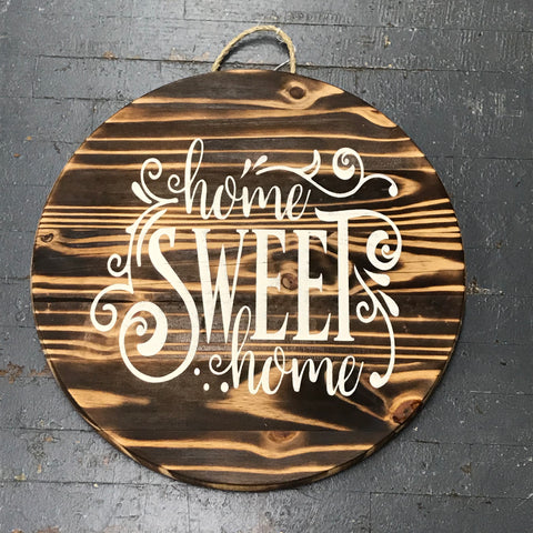 Home Sweet Home Round Indoor/Outdoor Wall Sign Door Wreath