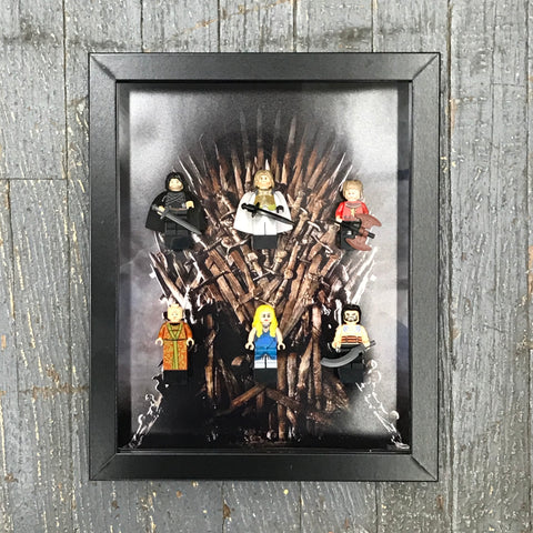 Game of Thrones Video Game Lego Figurine Wall Display Picture Frame Toy Art