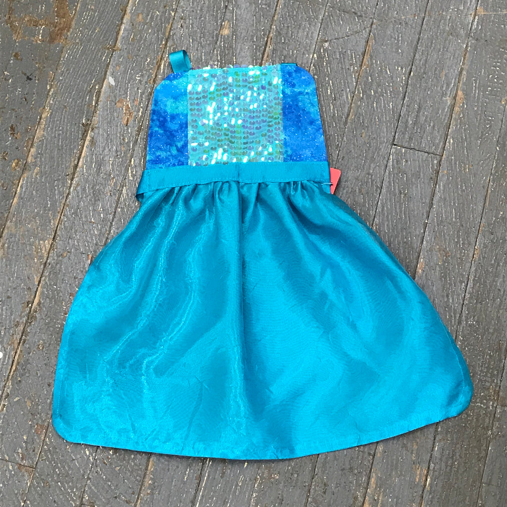 Princess Apron Disney Inspired Ariel Little Mermaid Glitter Dress Up Apron Child Kids Toddler Girls