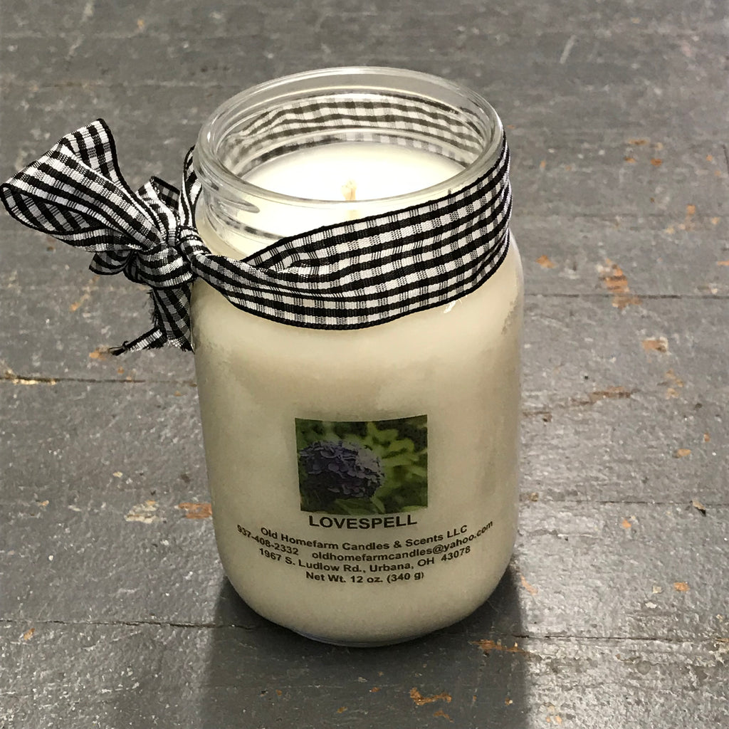 Lovespell Old Homefarm Mason Jar Soy Candle