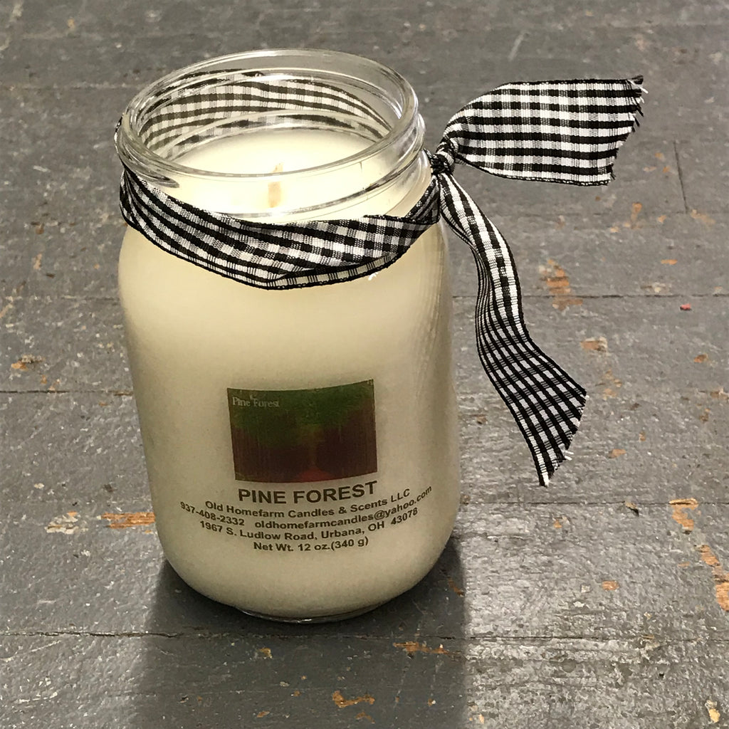 Pine Forest Old Homefarm Mason Jar Soy Candle