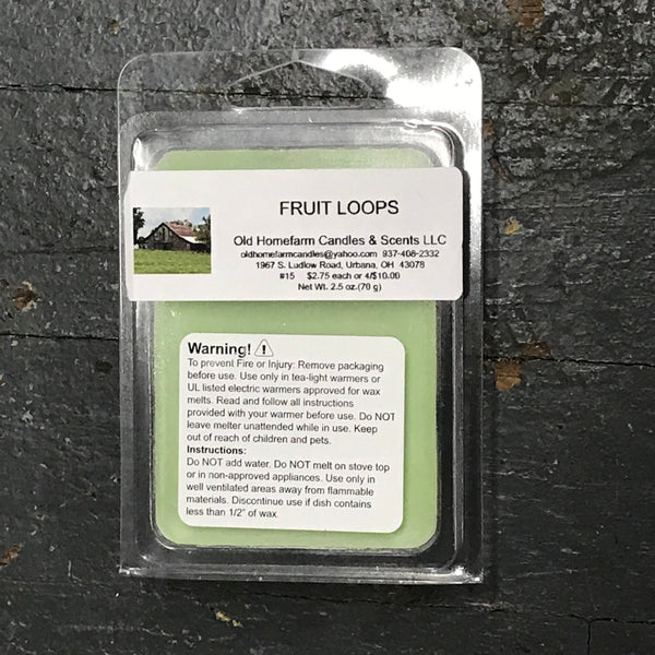 Fruit Loops Old Homefarm Melt Bar Soy Candle