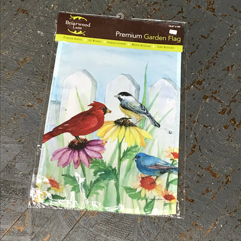 Birdsong Birds Fence Garden Flag