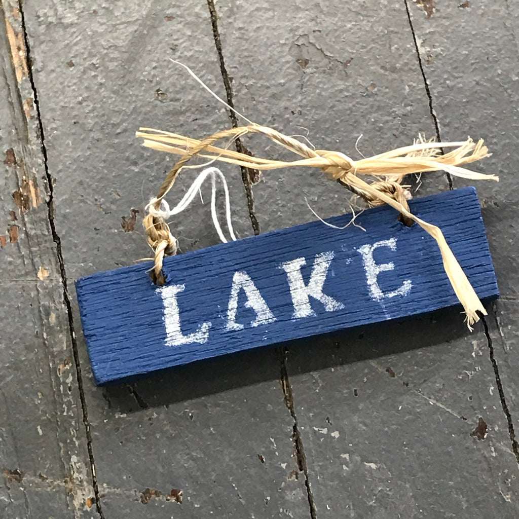 Lake Nautical Wood Painted Holiday Christmas Tree Ornament Decoration