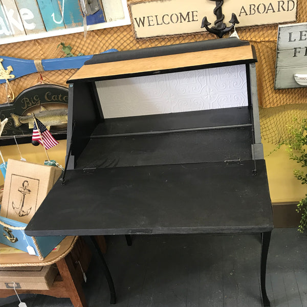 Vintage Painted Wood Secretary Desk