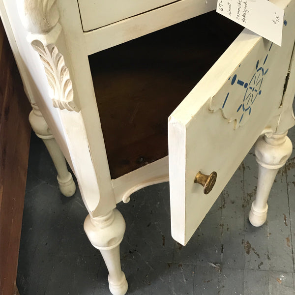 Nautical Ship Anchor Wood Dresser Side Storage End Table