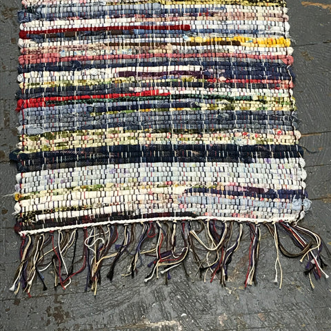 #40 Rag Runner Rag Weaved Table Runner Rug by Morgan