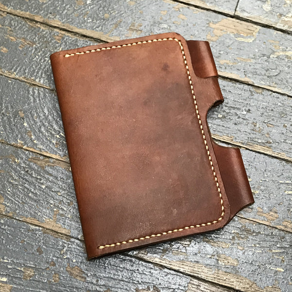 Leather Wallet Journal Handmade Medium Brown