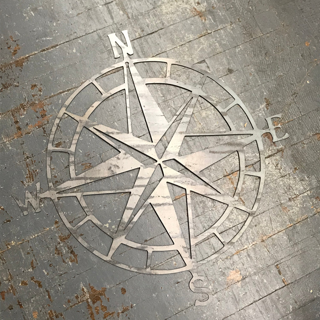 Directional Compass Metal Sign Wall Hanger