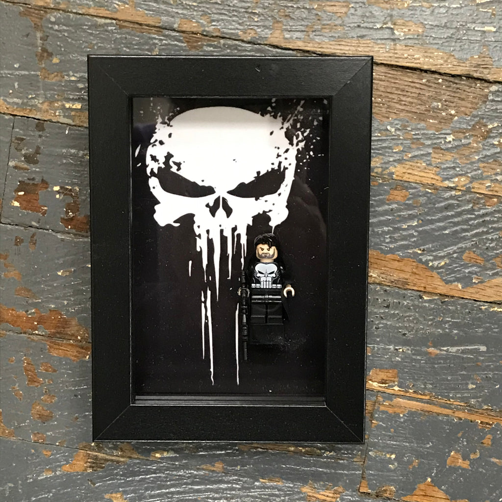 The Punisher Comics Lego Figurine Wall Display Picture Frame Toy Art