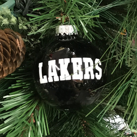 Holiday Christmas Tree Ornament Black Lakers Indian Lake Lakers