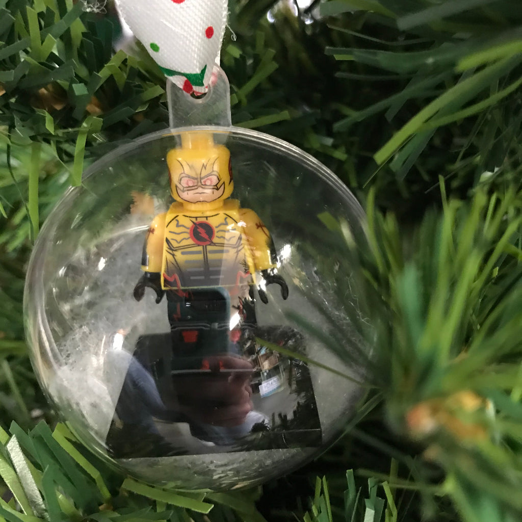 Holiday Tree Ornament Marvel DC Comic Reverse Flash Lego Figurine