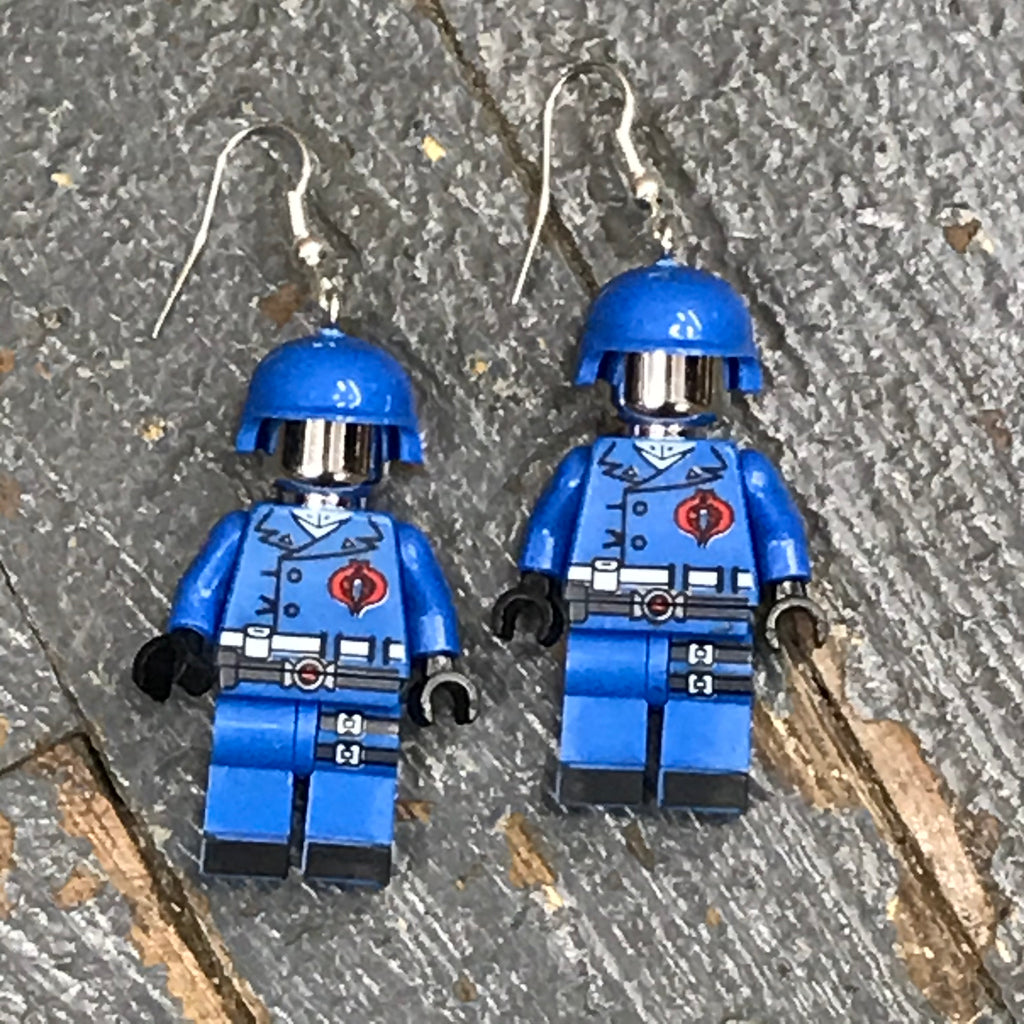 GI Joe Commander Comic Lego Figurine Dangle Earring Set Pair