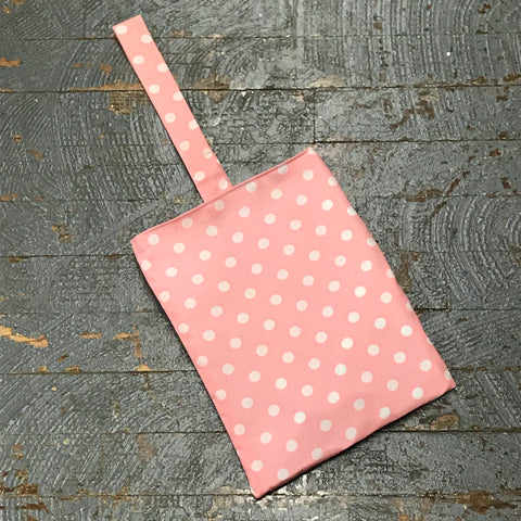 Pink Polka Dot Trash Can Recycle Travel Tote Car Camper Boat Trash Bag Bin