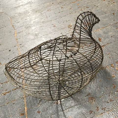 Upcycled Metal Chicken Egg Collector Basket