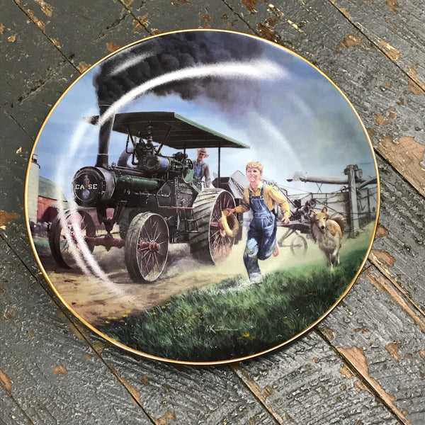 Danbury Mint Farmland Memories Collector Plate Thresher's Here by Mort Kuistler