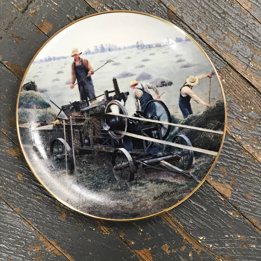 Danbury Mint Farming the Heartland Collector Plate Baling Hay by Emmett Kaye