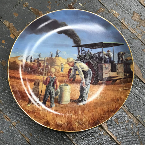 Danbury Mint Farmland Memories Collector Plate Prairier Gold by Mort Kuistler