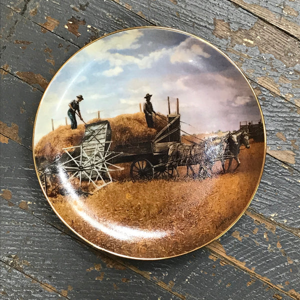 Danbury Mint Farming the Heartland Collector Plate Harvesting the Last by Emmett Kaye
