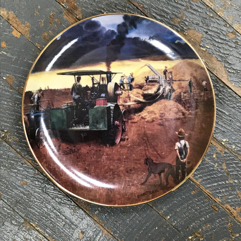 Danbury Mint Farming the Heartland Collector Plate Beating the Storm by Emmett Kaye