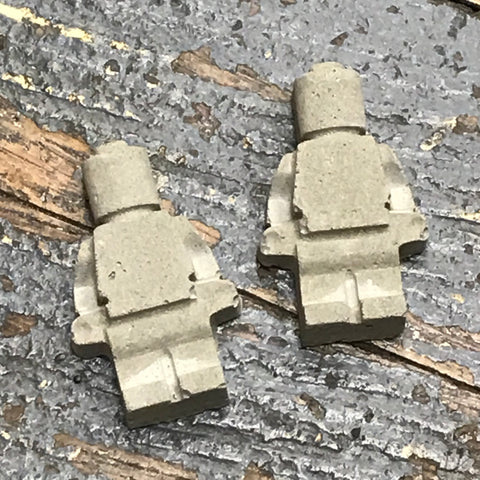 Lego Figurine Concrete Fairy Garden Lego Man Miniature Yard Art Small Pair Statue Stepping Stone
