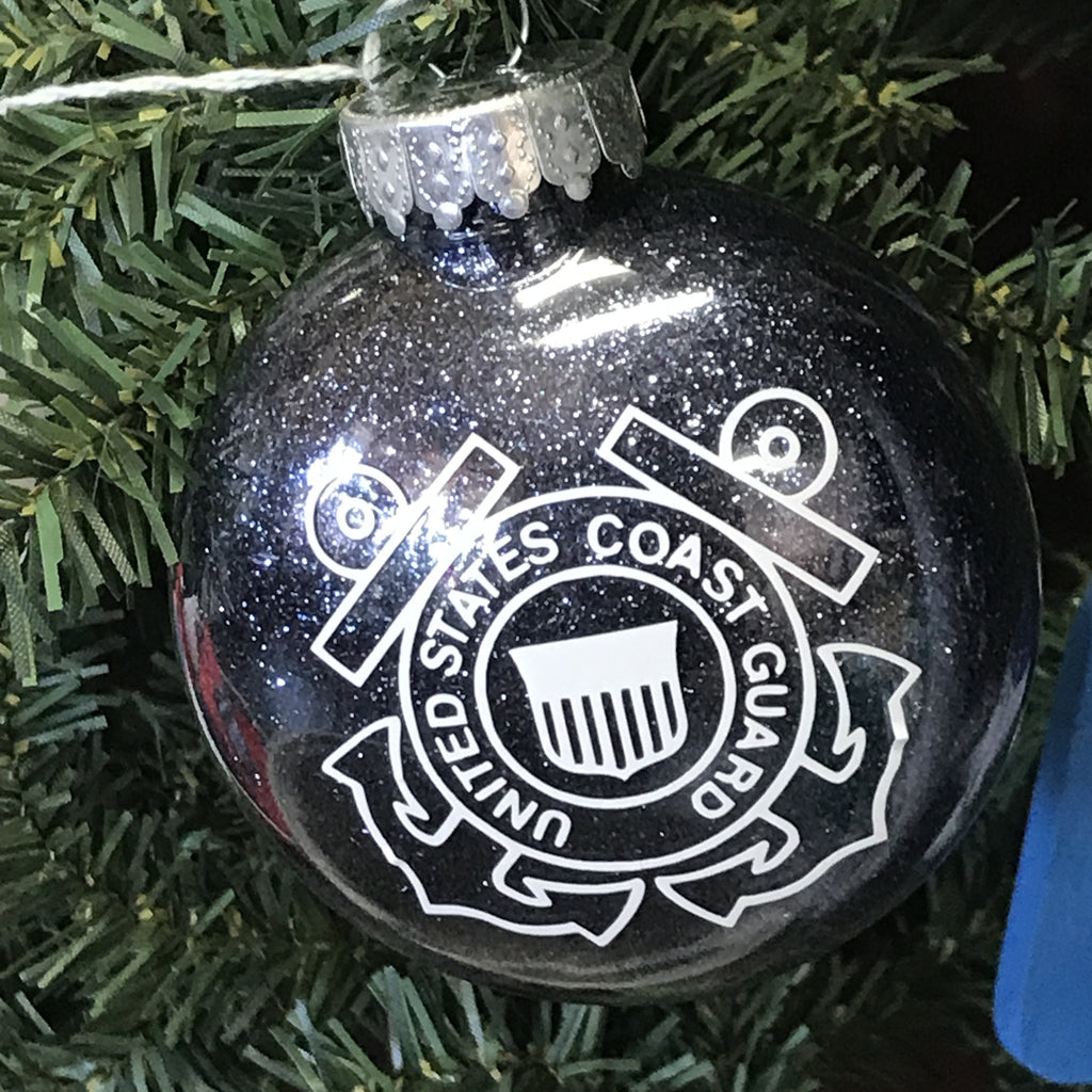Holiday Christmas Tree Ornament Military Branch US Coast Guard
