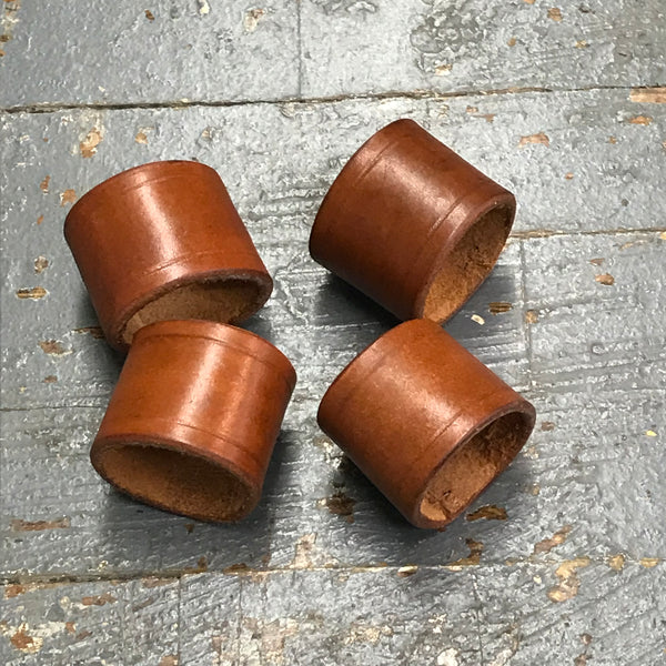 Handmade Leather Napkin Ring 4pk