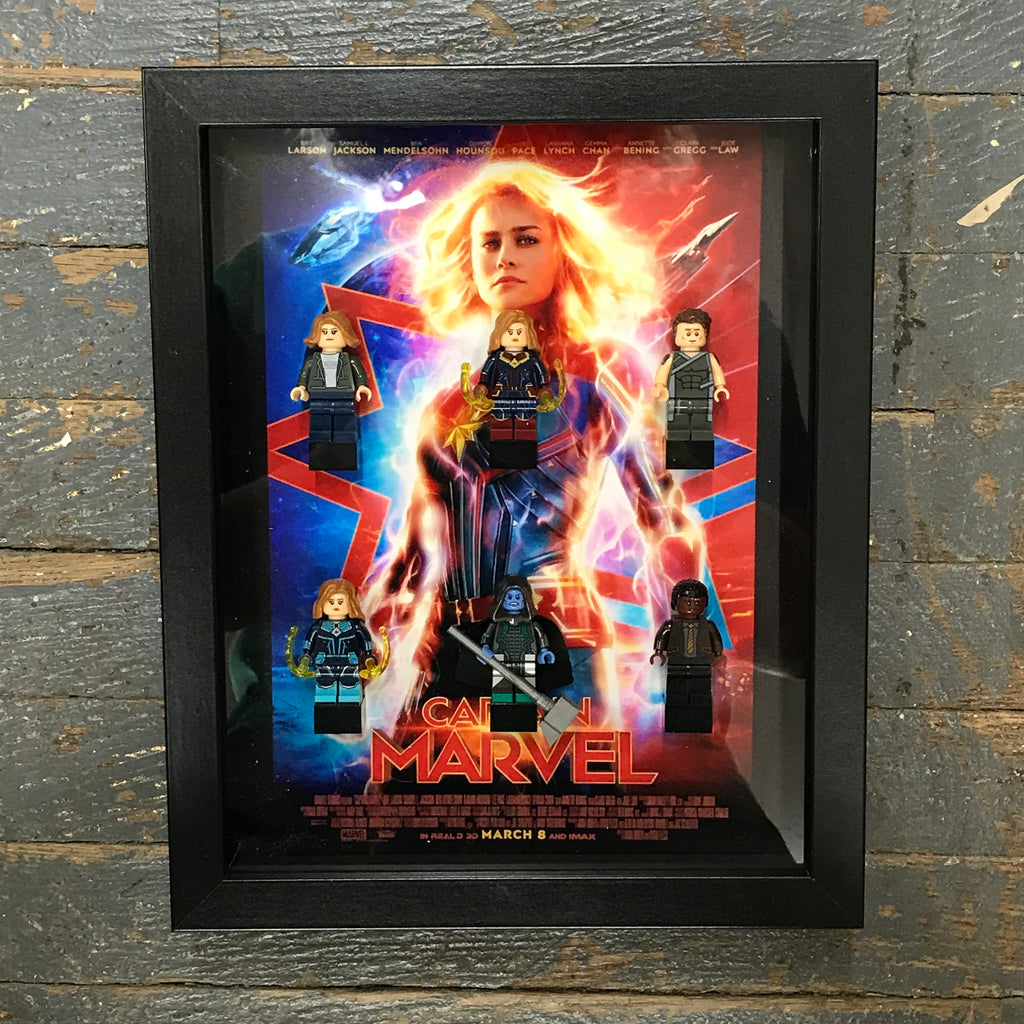 Captain Marvel Marvel Lego Figurine Wall Display Picture Frame Toy Art