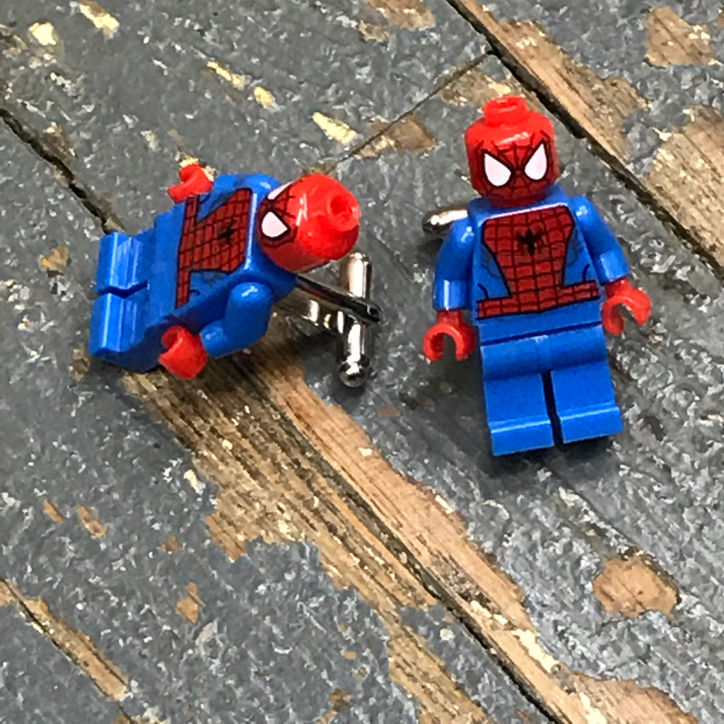 Spiderman Marvel Comic Lego Figurine Cuff Links Wedding Groom Suit Tux