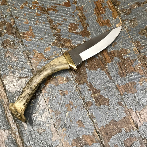 Custom Handmade Whitetail Deer Antler Handle Stag Knife Blade #7