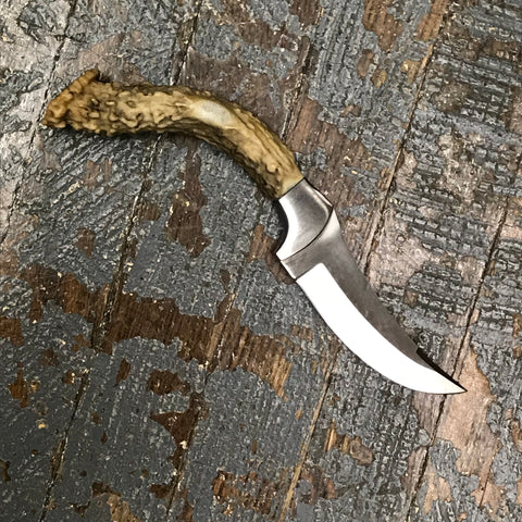Custom Handmade Whitetail Deer Antler Handle Stag Knife Blade #4