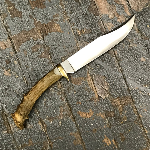 Custom Handmade Whitetail Deer Antler Handle Stag Knife Blade #2