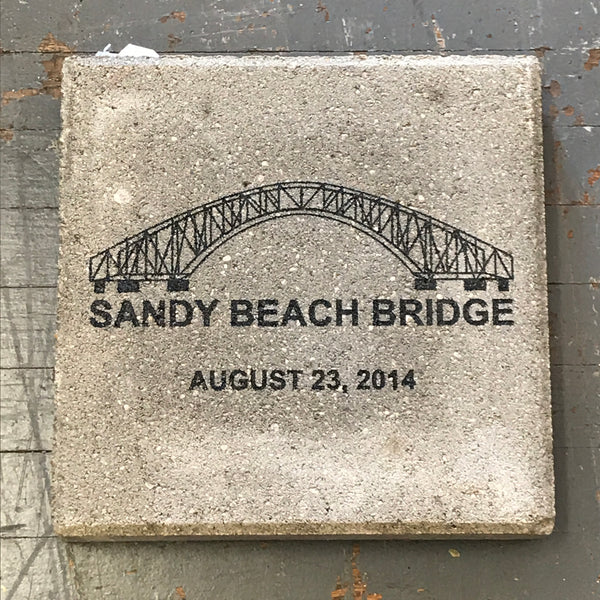 Harbourside Amusement Park Sandy Beach Bridge Large Paver Brick Indian Lake Ohio