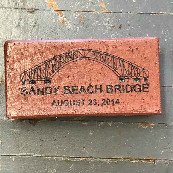 Harbourside Amusement Park Sandy Beach Bridge Small Paver Brick Indian Lake Ohio