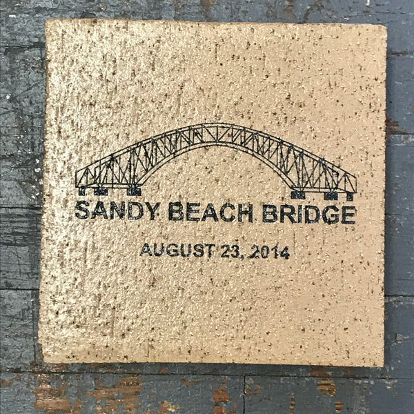 Harbourside Amusement Park Sandy Beach Bridge Medium Paver Brick Indian Lake Ohio