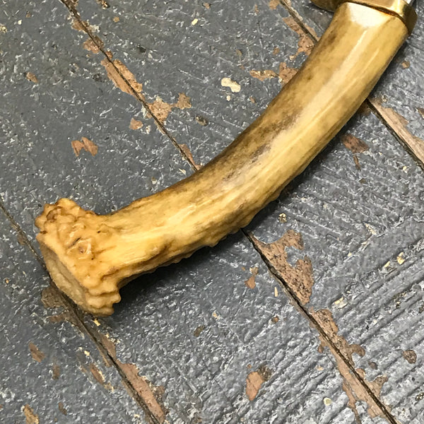 Custom Handmade Whitetail Deer Antler Handle Stag Knife Blade #5
