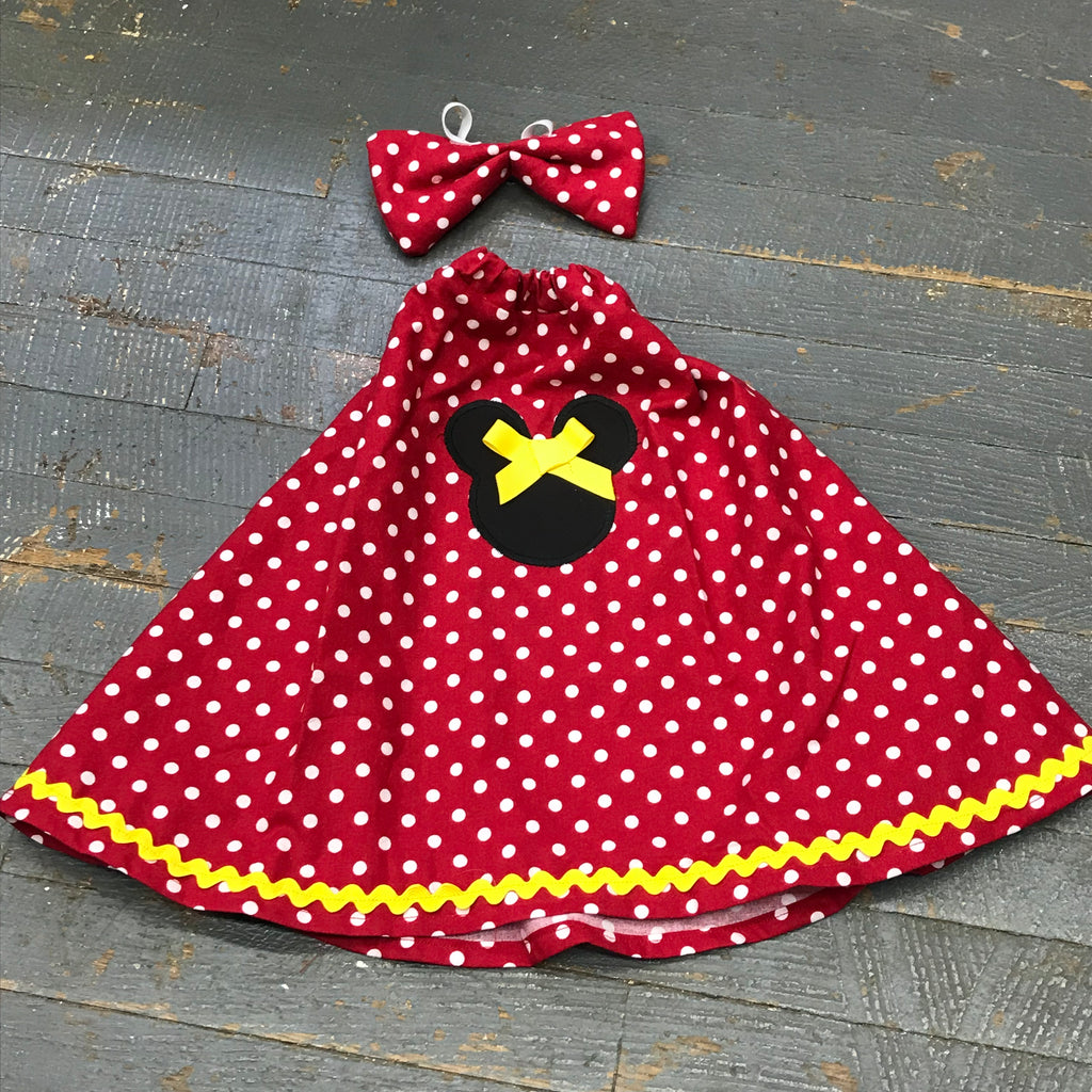 Goose Clothes Complete Holiday Goose Outfit Disney Mickey Minnie Mouse Dress and Bow Tie Hat
